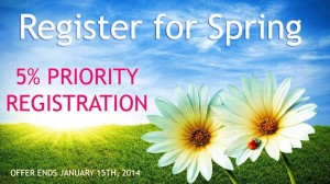 Priority Registration for spring